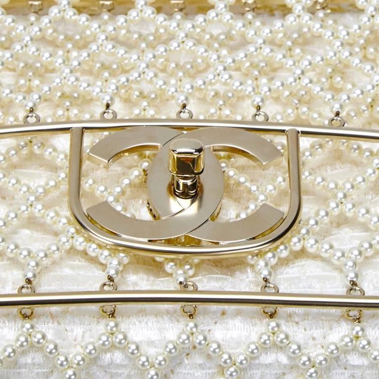 Chanel Pearl Classic Flap Bag 1