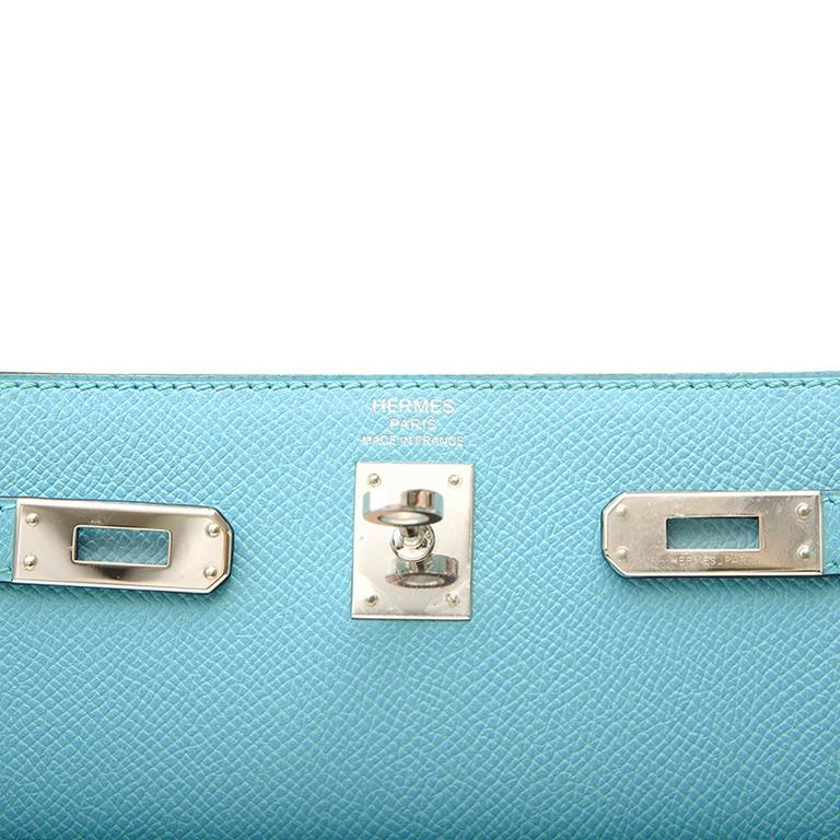 Hermes 25 Kelly Blue Atoll Brand New For Sale 2