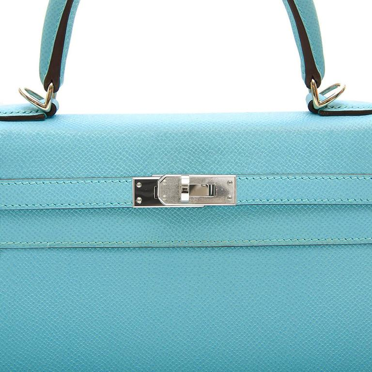 Hermes 25 Kelly Blue Atoll Brand New For Sale 4
