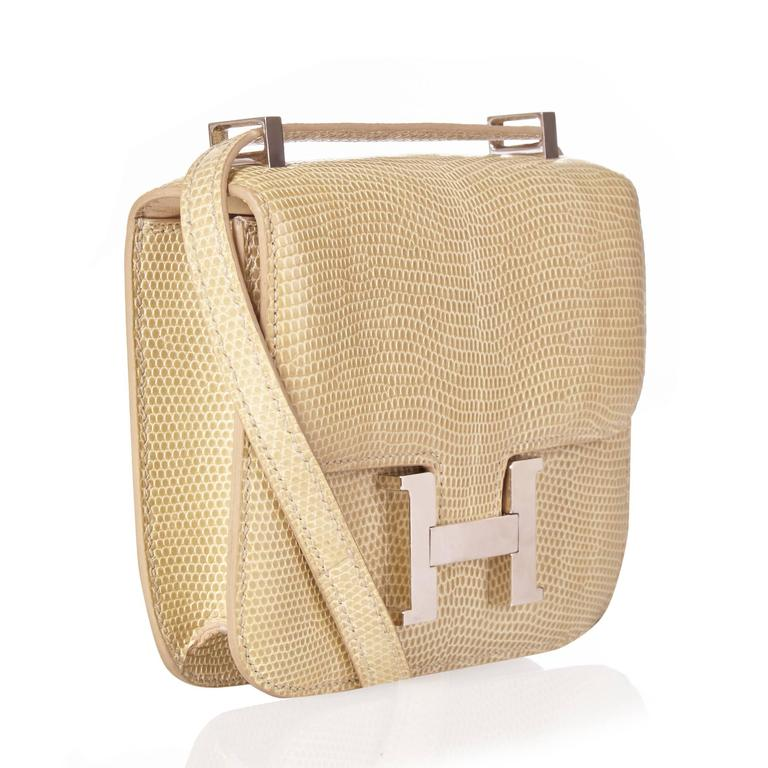 ffd049da7c3e Get your hands on this super rare Hermès Constance bag in Blanc Casse  colour. Created