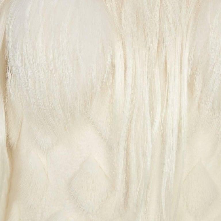 Women's Alexander McQueen White Fur Coat For Sale