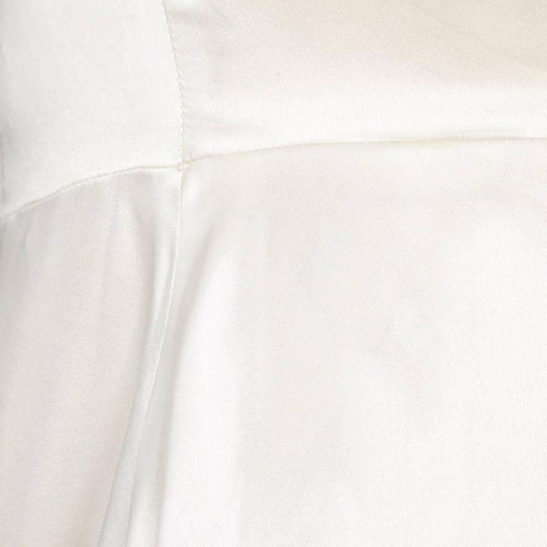 Alexander McQueen White Fur Coat For Sale 1