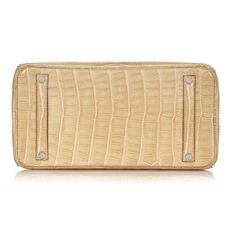 Hermes Poussiere Alligator 35cm Birkin Bag NEW 10