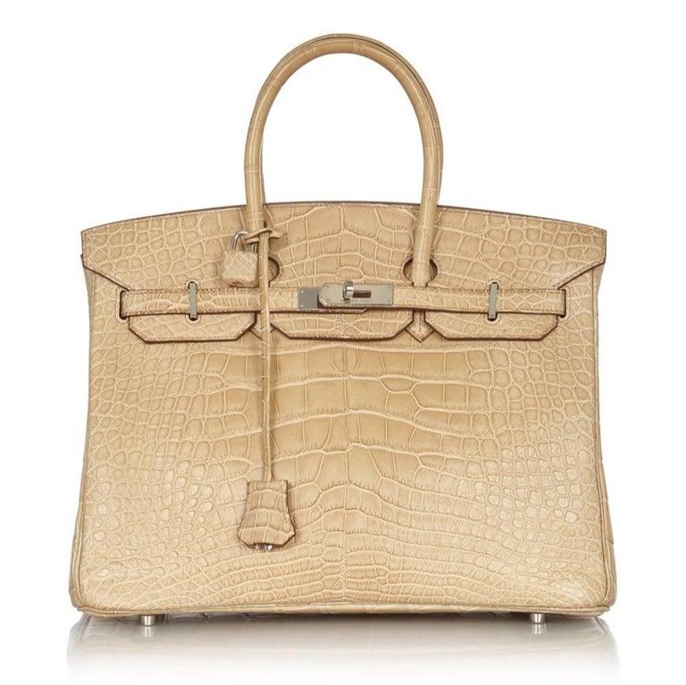 Hermes Poussiere Alligator 35cm Birkin Bag NEW 3