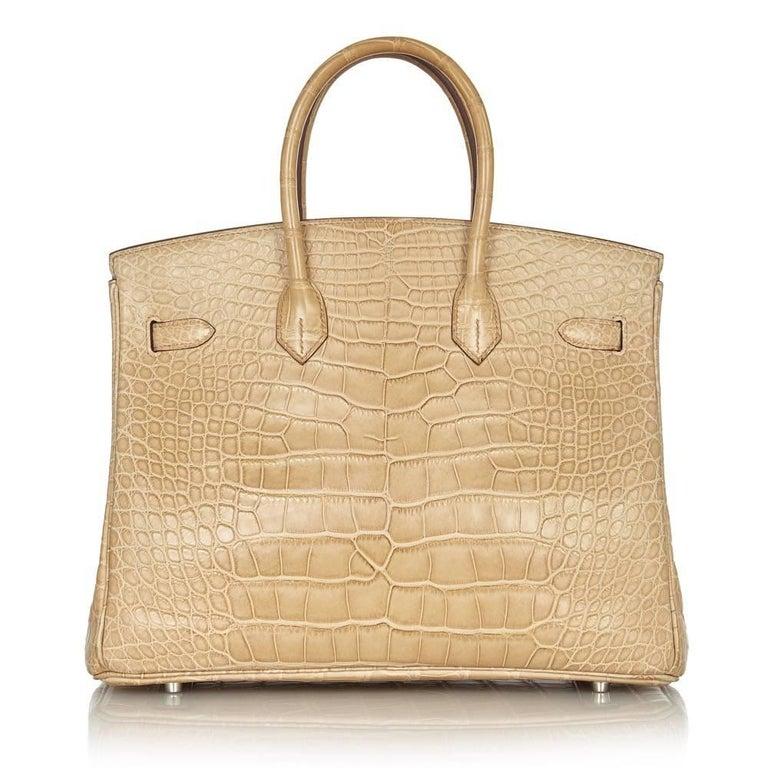 Hermes Poussiere Alligator 35cm Birkin Bag NEW 4