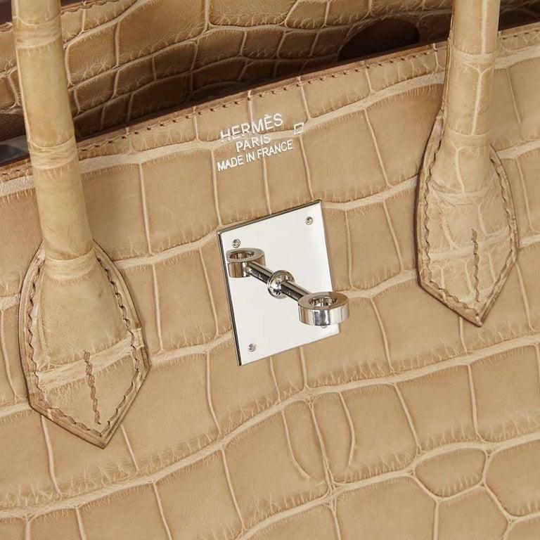 Hermes Poussiere Alligator 35cm Birkin Bag NEW 5