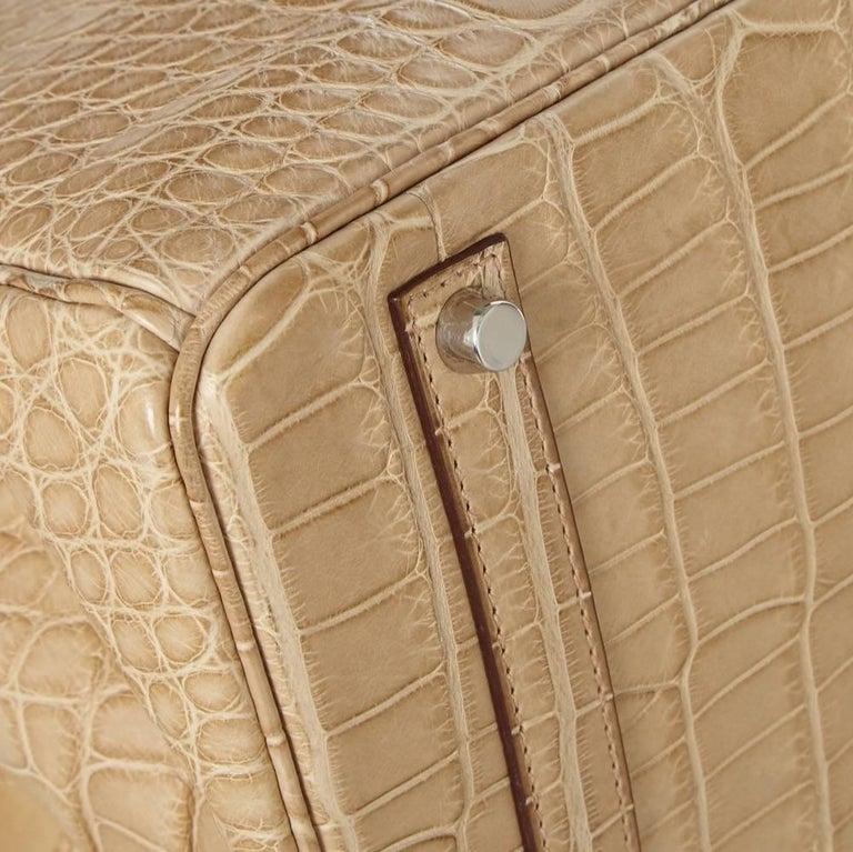 Hermes Poussiere Alligator 35cm Birkin Bag NEW 9