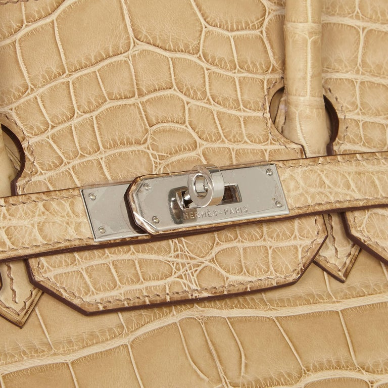 Hermes Poussiere Alligator 35cm Birkin Bag NEW 6