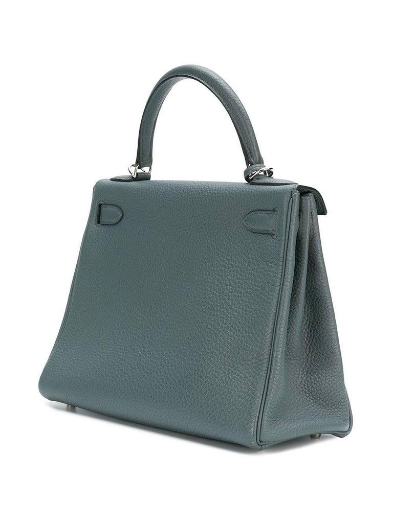 Hermès 25cm Kelly Bag Blue Orage Togo 2