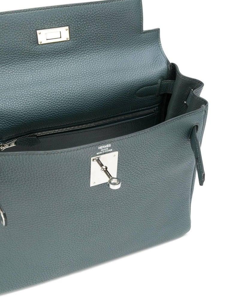Hermès 25cm Kelly Bag Blue Orage Togo 3