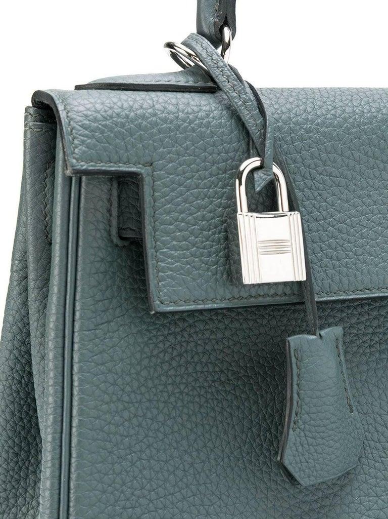 Hermès 25cm Kelly Bag Blue Orage Togo 4