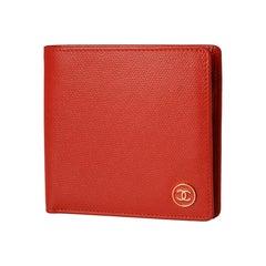 Chanel Bi-Fold Red Leather Wallet