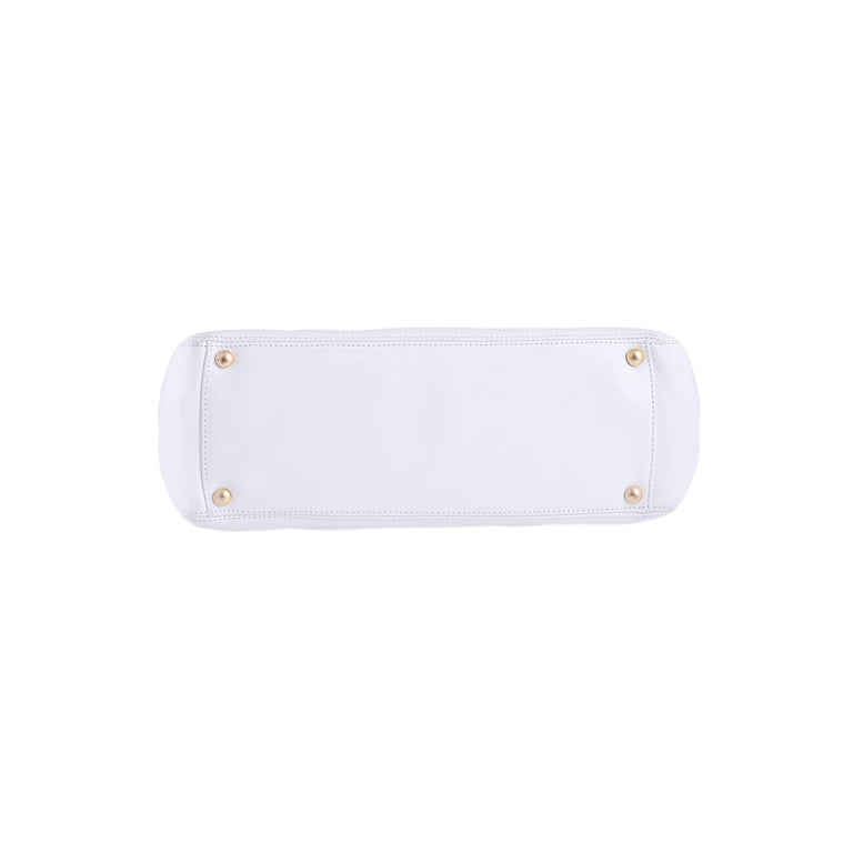 Chanel White Tote Bag  4