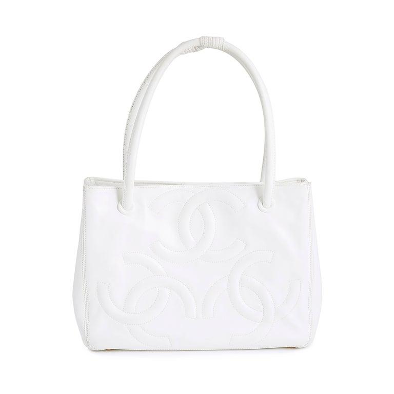 Chanel White Tote Bag  3