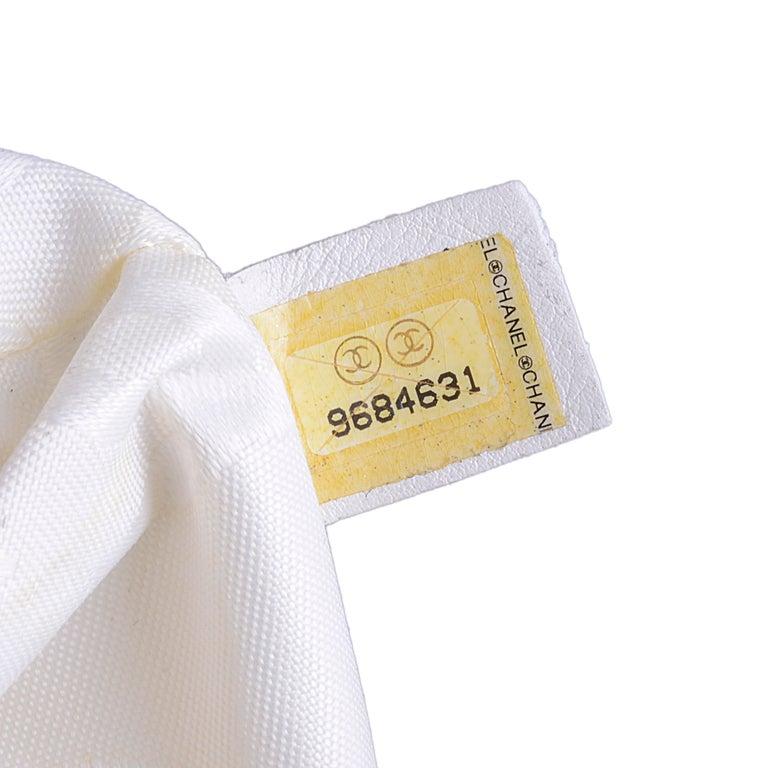 Chanel White Tote Bag  6
