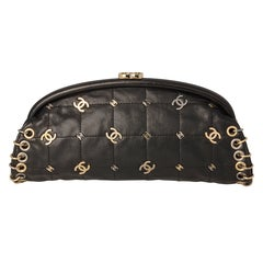 Chanel Black Pochette with Rings