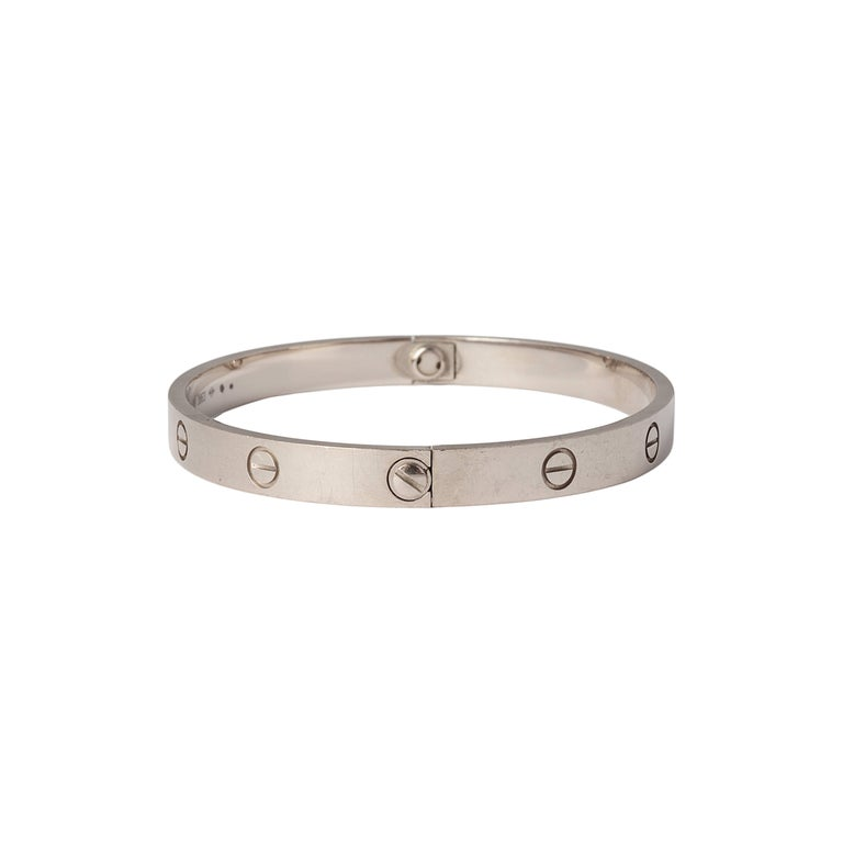 Cartier White Gold Love Bracelet In Good Condition For London Gb