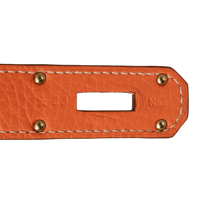 Women's Hermes Crevette Clemence Leather 34cm Jypsiere Bag For Sale