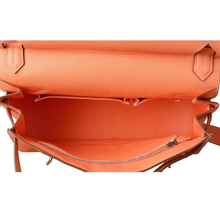 Hermes Crevette Clemence Leather 34cm Jypsiere Bag For Sale 1