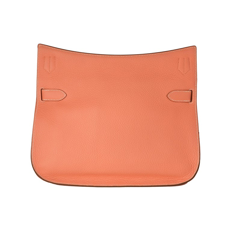 Hermes Crevette Clemence Leather 34cm Jypsiere Bag In Excellent Condition For Sale In London, GB