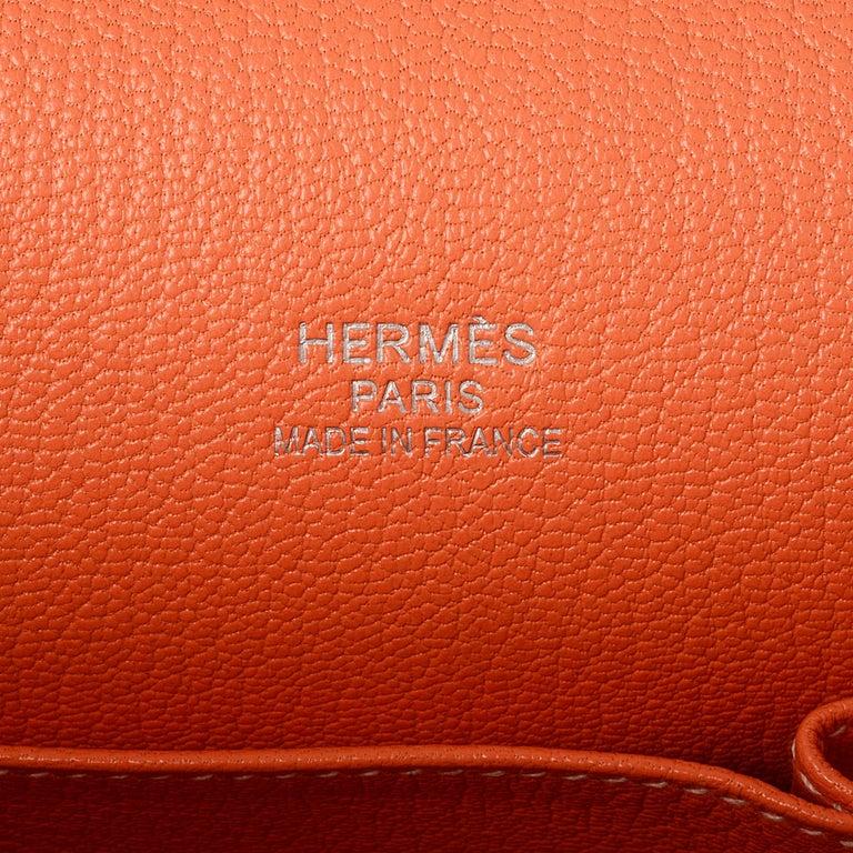 Hermes Crevette Clemence Leather 34cm Jypsiere Bag For Sale 2