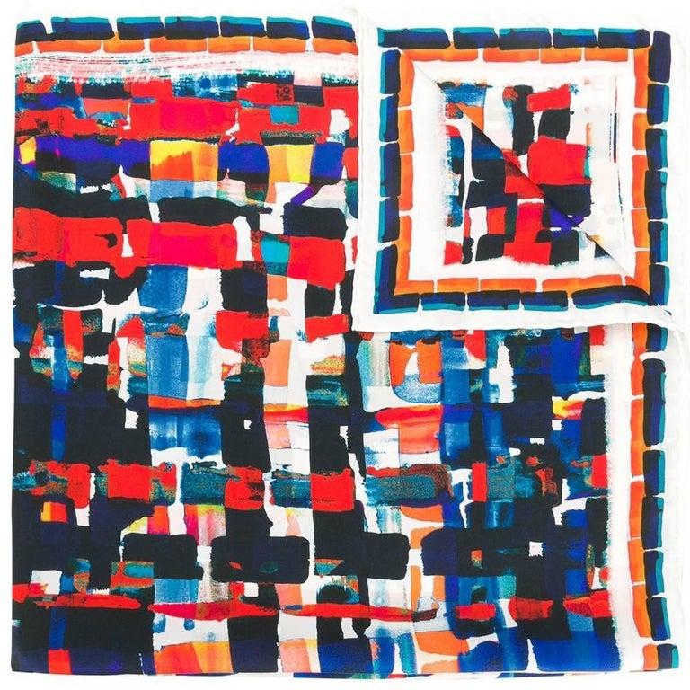 Chanel Multi Squares Print Scarf