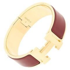 Hermes Vintage 'Clic Clac H' Red Bracelet