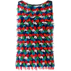 Chanel Multicolour Cashmere Vest Top