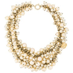 Chanel Pearl Cluster Necklace
