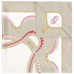 Cartier Silk Jewellery Print Scarf