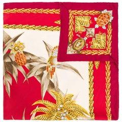"Cartier ""Tropical Island"" Silk Print Scarf"