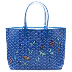 Goyard Customized Blue 'Butterflies' Monogram St Louis PM Bag