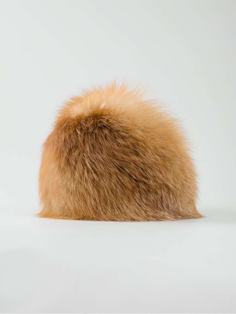 Brown Christian Dior Vintage Fox Fur Hat For Sale