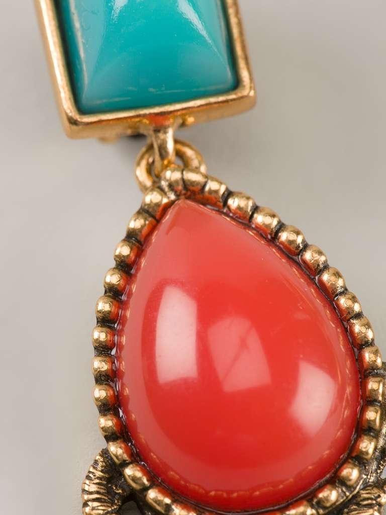 Oscar De La Renta Vintage Cabochon Drop Earrings At 1stdibs