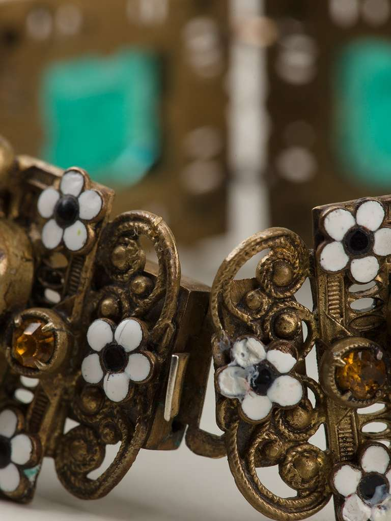 Vintage Enamel Embellished Bracelet 2