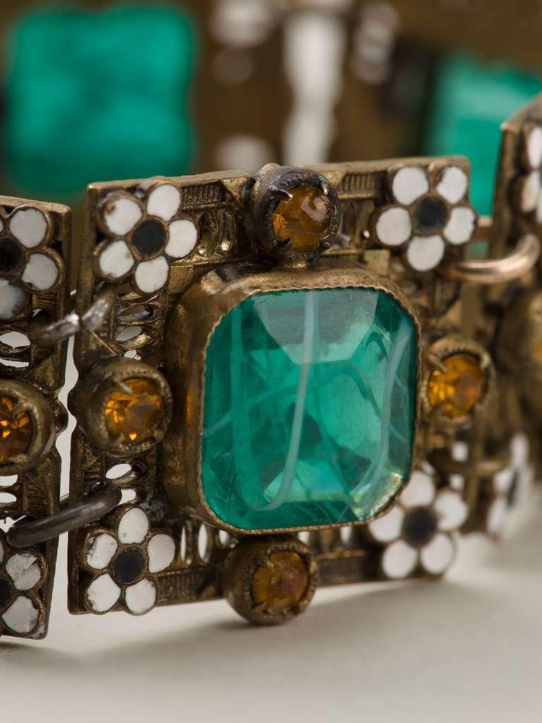 Vintage Enamel Embellished Bracelet 3