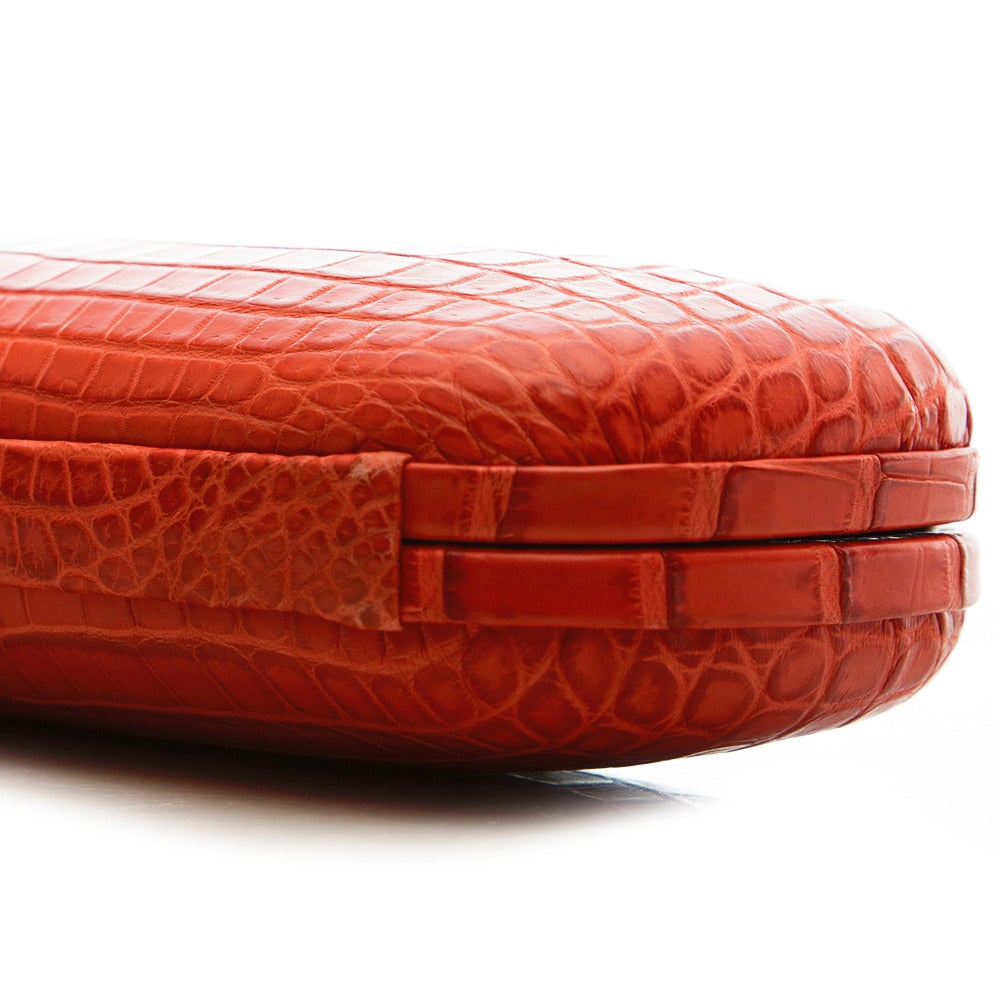 Women's Bottega Veneta Large Croc Clutch For Sale