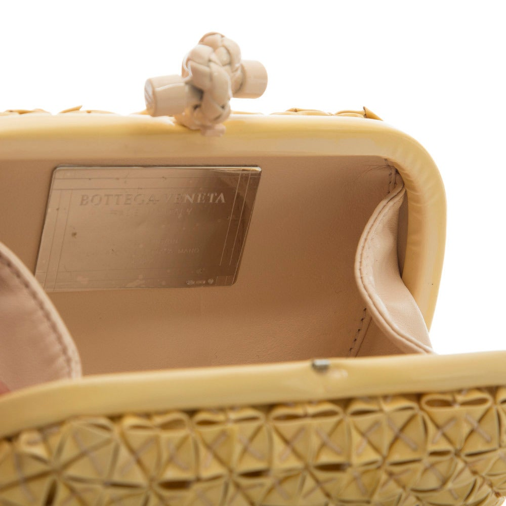 Bottega Veneta Beige PVC Clutch For Sale 1