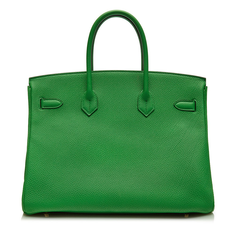 Hermès Bamboo Green Togo Leather Birkin 35cm 3