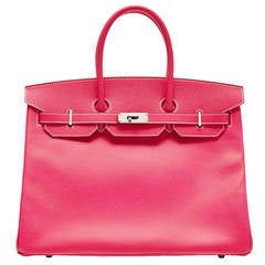 Hermès Hot Pink Scheherazade Togo Leather Birkin HAC 32cm
