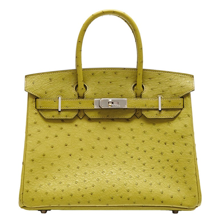 Hermès Lime Green Ostrich Leather Birkin 30cm at 1stdibs 11317202875a1