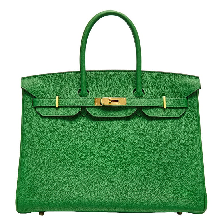 Hermès Bamboo Green Togo Leather Birkin 35cm 1