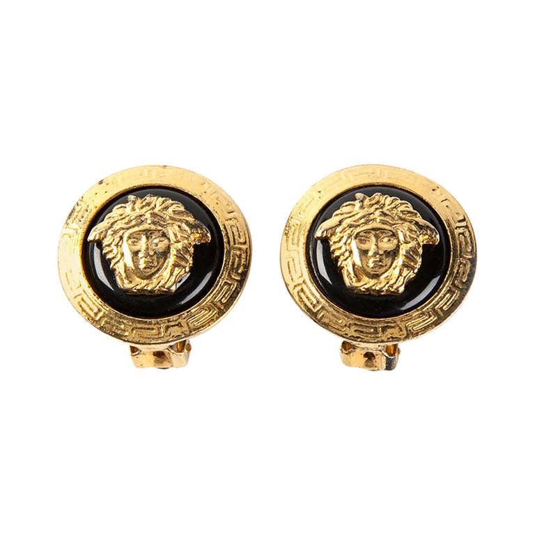 Gianni Versace Vintage Medusa Earrings For Sale