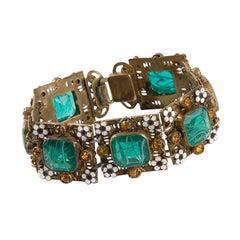 Vintage Enamel Embellished Bracelet