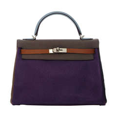 Hermès 32cm Kelly Arlequin