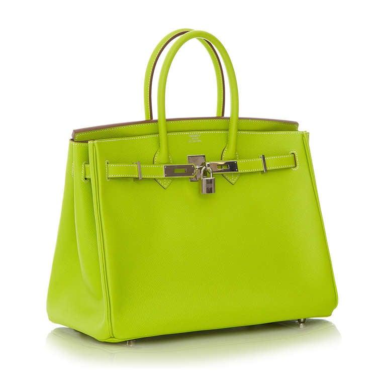 Hermès Candy Kiwi 35cm Birkin Bag 2