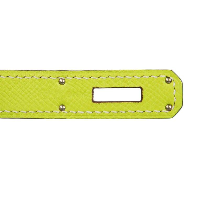 Hermès Candy Kiwi 35cm Birkin Bag 7