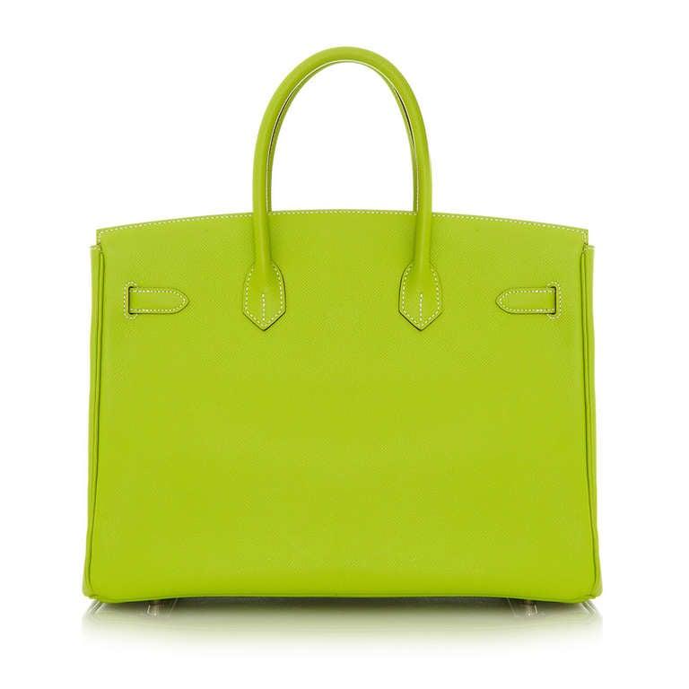 Hermès Candy Kiwi 35cm Birkin Bag 3