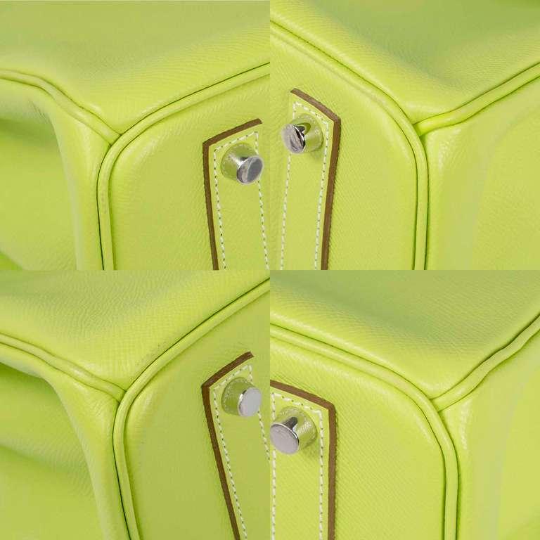 Hermès Candy Kiwi 35cm Birkin Bag 8