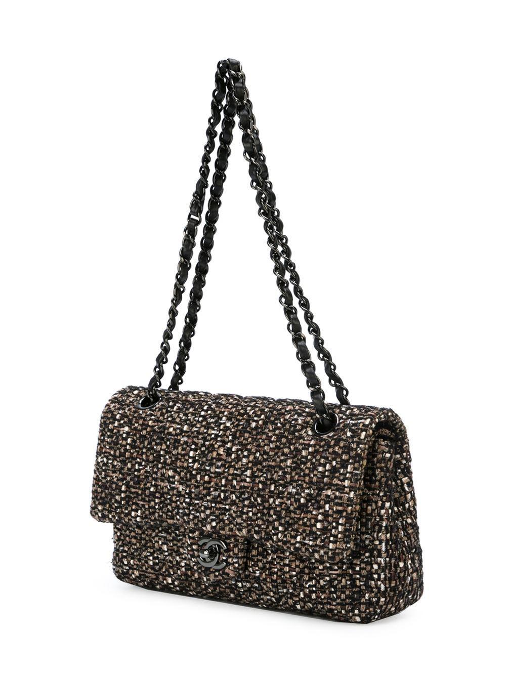 Chanel Tweed Shoulder Bag at 1stdibs